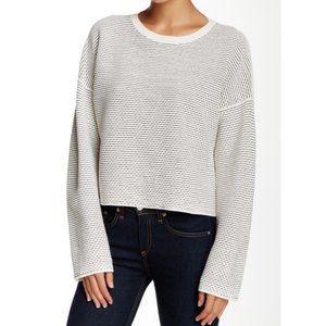 Theory Tamrist Prosecco Boxy Sweater Black L